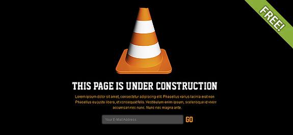 Free Website Under Construction PSD Templates 02 25 Free Website Under Construction Templates