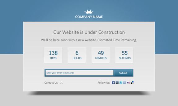 Free Website Under Construction PSD Templates 04 25 Free Website Under Construction Templates