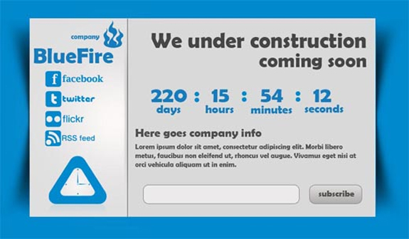 Free Website Under Construction PSD Templates 05 25 Free Website Under Construction Templates